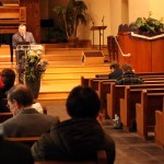Ben Shoun giving the devotional talk at the Ellen White Issues Symposium on March 25, 2013.