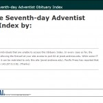Seventh-day Adventist Obituary Index